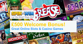 Spin and Win £500 Welcome Bonus Offer