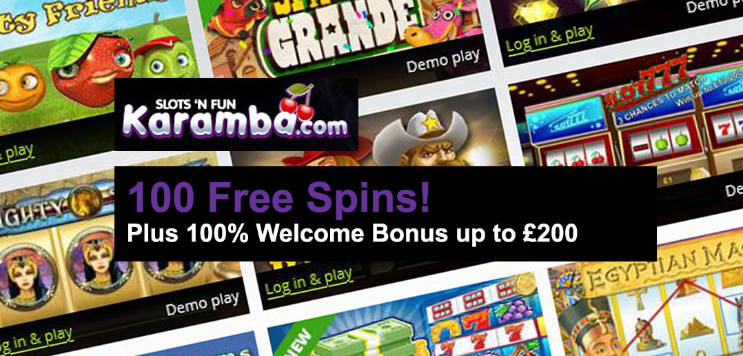 Karamba Casino: 100 Free Spins and 100% Welcome Bonus ...