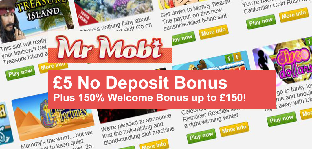 mobile casino no deposit signup bonus