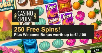 Casino Cruise Free Spins Welcome Bonus